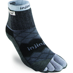 Injinji Liner + Runner Mini-Crew Sokken Heren, black